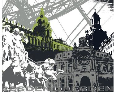 AS Creation XXL City 2010 Dresden 0420-62 , 42062  3m x 2.5m Fototapete